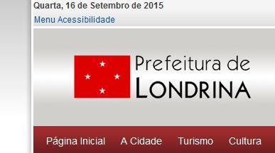 Acessibilidade Prefeitura de Londrina