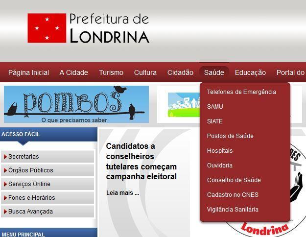Usabilidade Prefeitura de Londrina