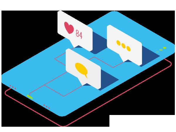 Ilustração Marketing digital